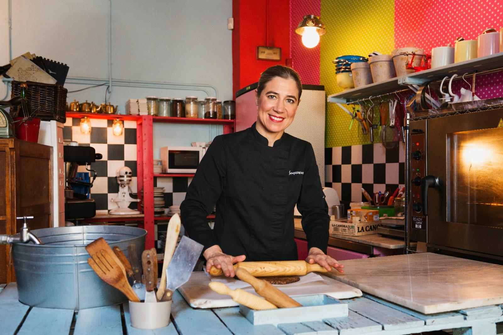 Ada Parellada en su restaurante Semproniana de Barcelona
